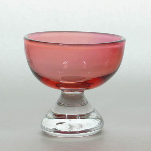 あづみ野ガラス工房 【限定商品】赤い冷酒杯